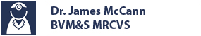 Name Badge Dr. James McCann BVM&S MRCVS