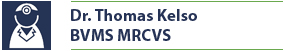Name Plate for Dr. Thomas Kelso BVMS MRCVS, Veterinary Surgeon