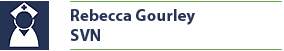 Name plate for Rebecca Gourley, SVN