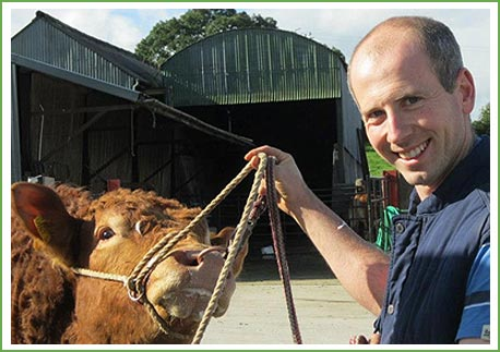 Cahir McAuley, Firmount Veterinary, ClinicAntrim, N. Ireland with a treating a farm animal